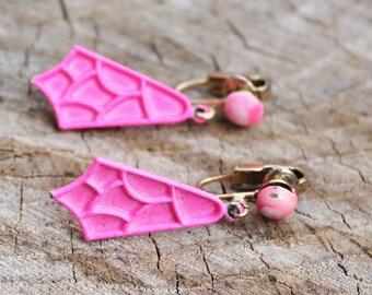 Vintage Neon Pink Earrings