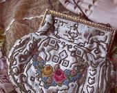 SALE - Vintage Purse,Wedding Purse, Vintage Prom Purse,Beaded Evening Bag, Sale Item : Was 55.00 Now 44.00