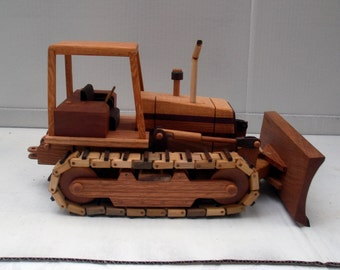 Bulldozer Replica Handcrafted Wooden
