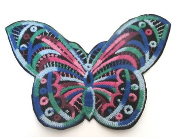 Butterfly XL Size Embroidery Iron on Patch