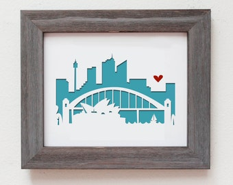 Sydney, Australia.  Personalized Gift or Wedding Gift