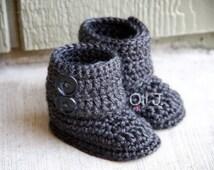 Button up Crochet Booties Newborn/Infant