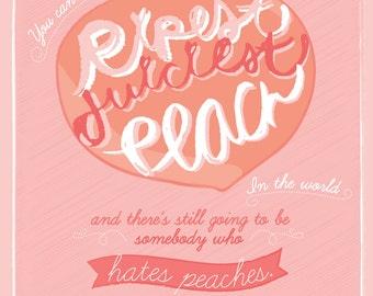 Dita Von Teese Peaches Illustration