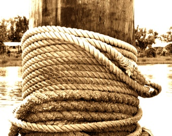 Post and Rope in Sepia
