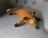 Cuddly Mr Fox Knitted Toy