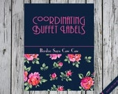 Coordinating Buffet Labels/place cards A La Carte
