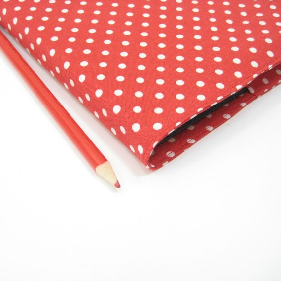 Planners 2014, New Year gift idea for her Under 50, red white polka dots, A5 diary page per day, Day planner
