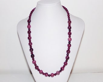 Womens Berry Jasper Necklace