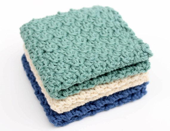 Crochet Washcloth : Crochet Pattern Washcloth Dishcloth Facecloth by DeuxBrinsDeMaille
