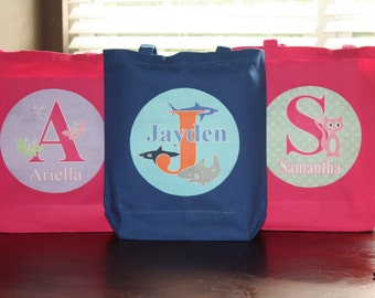 Large Personalized Tote Bag
