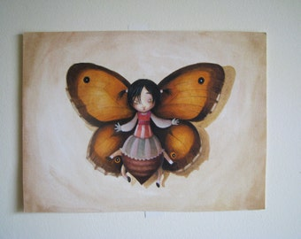 Butterfly painting- Original watercolor-Original illustration-FREE SHIPPING
