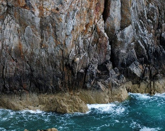 Rockface, cliffs off the coast of Anglesey in Wales, UK-original signed Fine Art photo giclee print, Photography print, Wall art print