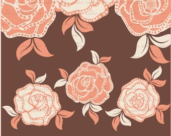 Instant Downloads, 16 Digital Rose. Clip Art For Your Handmade Crafts Projects. Personal and Small Commercial Use. BP 0306