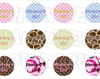 Mommy's Girl bottlecap image sheet polka dots