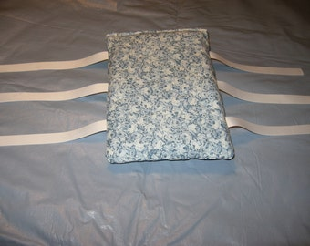 Armrest Cushions--Fit most chairs--arm rest ArmCushies--Fit IKEA Poang chair--Blue and white flower print--1 Pair