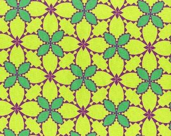 Folk Modern - Flower Green - JG-41600-3C by Ellen Luckett Baker from Kokka Fabrics