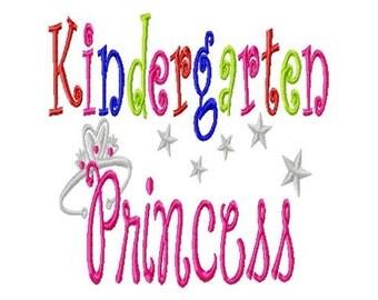 Kindergarten Princess - Machine Embroidery Design -  8 sizes