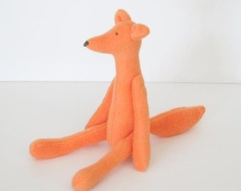 Fox plush stuffed fox toy orange softie plush soft plushie toy for children cute animal toy gift for children baby shower gift nursery decor