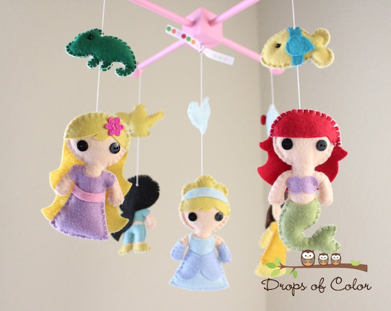 baby mobile baby crib mobile princess mobile by
