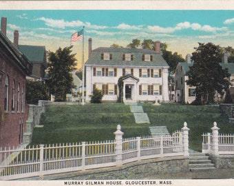 Gloucester, Massachusetts, Murray Gilman House - Vintage Postcard - Unused (G)