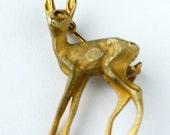 Vintage Deer Pin- Gold tones