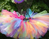 "Rainbow tutu for your ""little princess..."" sizes newborn -12mths, 1,2,3,4 5 &up"
