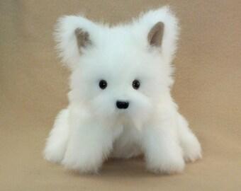 White Puppy Dog Hand Puppet