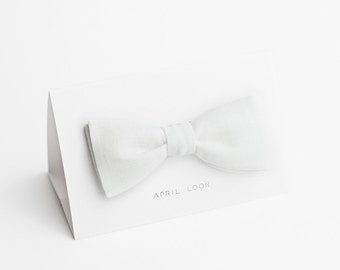 White bow tie, formal bow tie, milk white