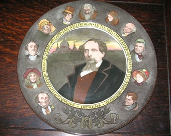 ROYAL DOULTON CHARLES Dickens Character Plate, England