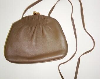 Great Vintage ETRA Taupe Handbag Purse