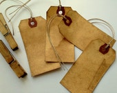 200 Medium WITH STRINGS Escort Card. Anthropologie Wedding. Place Card. Save The Date. Luggage Tag. Dyed Stained. Hang Tag. Gift Tag. DARK