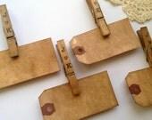 Personalized  Escort Card Kit. Set of 50. Vintage Wedding. Boho Anthropologie Wedding. Name Tag. Place Card. Luggage Tag. Name Tag DARK