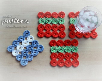 Crochet Pattern - Joy Joy Coasters (Pattern No. 010) - INSTANT DIGITAL DOWNLOAD