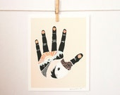 The Something Hand art print