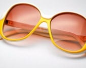 Vintage Large Yellow Anne Klein for Riviera Sunglasses