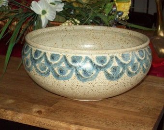 Stoneware/Pottery large bowl (Signed by Collins)