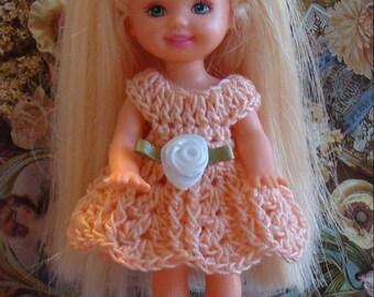 Handmade Crochet Dress For Kelly Barbie number  1025