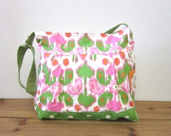 Mother's day gift - New mom gift/baby diaper bag/spring celebrations/ large messenger bag/overnight bag/diaper bag - One ready to ship