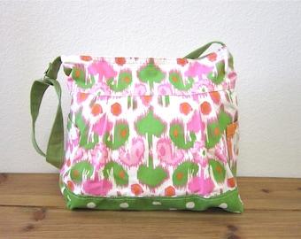 Christmas gift/Diaper bag/New mom gift/baby diaper bag/spring celebrations/ large messenger bag/overnight bag/diaper bag - One ready to ship