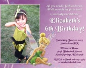 Tinkerbell Birthday Invitations Fairy Birthday Invitation Photo Option Customizable Printable