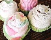 4 Bodysuit Cupcake Baby Gift Set // Baby Shower Gift, Baby Gift, New Baby Gift