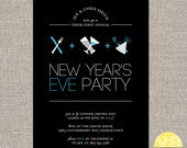 New Year's Eve party invitation - customized diy printable file by Yellow Brick Studio