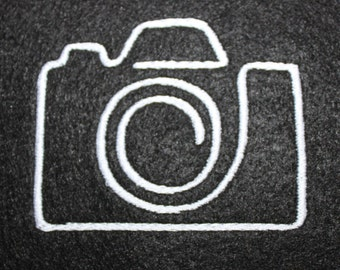 camera machine embroidery design Instant Download