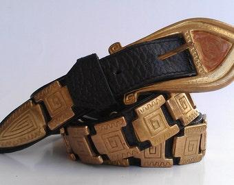 Vintage Donna Kay Tribal Studded Belt