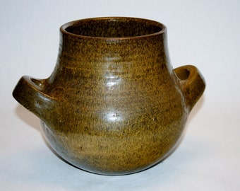 Marcello Fantoni Studio Pottery Cache Pot Signed & For Raymor Italian Modernism Ceramics Italy Gambone Ponti Eames Era Stoneware
