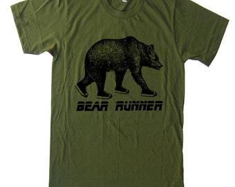 Running Bear T Shirt American Apparel T Shirt Grizzly Bear Gifts For Inspiration Workout T Shirt Funny T Shirt Gifts For Him T Shirt
