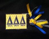 Greek Bag Tag - Delta Delta Delta Greek Sorority Fraternity
