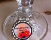 Custom Bottle Cap Wine Charm - Wedding version