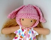 """DIGITAL KNITTING PATTERNS: Book of Five Knit Clothing Patterns for 6"""" 7"""" 8"""" Waldorf Dolls"""