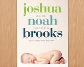 custom photo birth announcement - bold